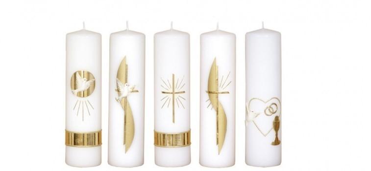 Oltářní svíce s dekorem