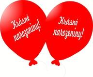 Balónky narozeninové potisk